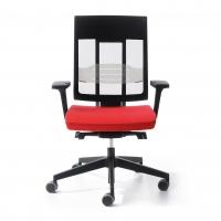 Bürostuhl mit hoher Netzrückenlehne und Lumbalstütze