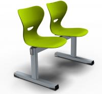 Sitzbank - Kunststoffschale/ 2-Sitzer