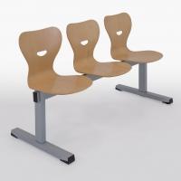 Sitzbank - Holzschale/ 3-Sitzer