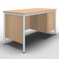 Lehrertisch mit Unterbau und Seitenblenden