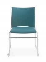 Stuhl mit Sitz- und Rückenpolster/ B1 schwer entflammbar