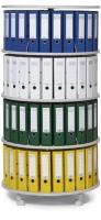 Ordnerdrehsäule 4 Etagen/ einzeln drehbare Etagen