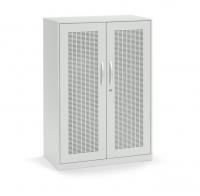 Akustik-Flügeltürenschrank/ Breite 80 cm/ 3 Ordnerhöhen