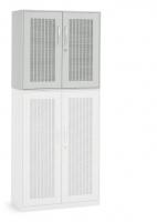 Akustik-Flügeltüren-Aufsatzschrank/ Breite 80 cm/ 2 Ordnerhöhen