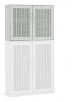 Akustik-Flügeltüren-Aufsatzschrank/ Breite 100 cm/ 2 Ordnerhöhen