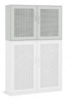 Akustik-Flügeltüren-Aufsatzschrank/ Breite 120 cm/ 2 Ordnerhöhen