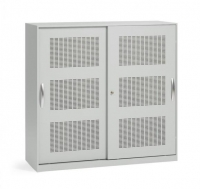 Akustik-Schiebetürenschrank/ Breite 120 cm/ 3 Ordnerhöhen