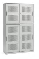 Akustik-Schiebetüren-Aufsatzschrank/ Breite 120 cm/ 2 Ordnerhöhen