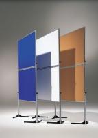 Klappbare Ausstellungswand weiß, kartoniert - 120 cm x 150 cm