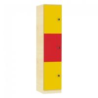 Schließfachschrank mit 3 Fächern, Höhe 190 cm