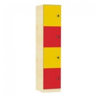 Schließfachschrank mit 4 Fächern, Höhe 190 cm