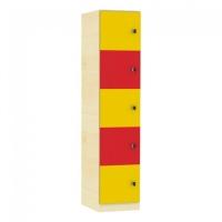 Schließfachschrank mit 5 Fächern, Höhe 190 cm