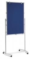 Präsentationstafel - einteilig/ BxH: 75 cm x 120 cm/ blau-whiteboard