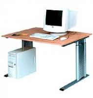 Arbeitstisch CADDY3 mit rechteckiger Arbeitsplatte