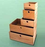 Qualitäts-Holzschubkasten   BxHxT 25 x 12 x 36 cm